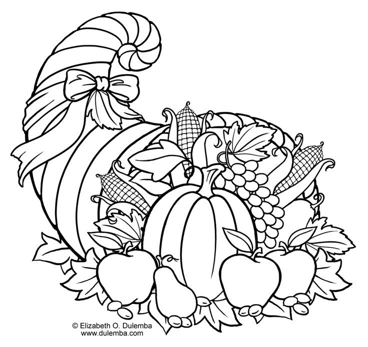 cornucopia coloring pages for kids - photo#10