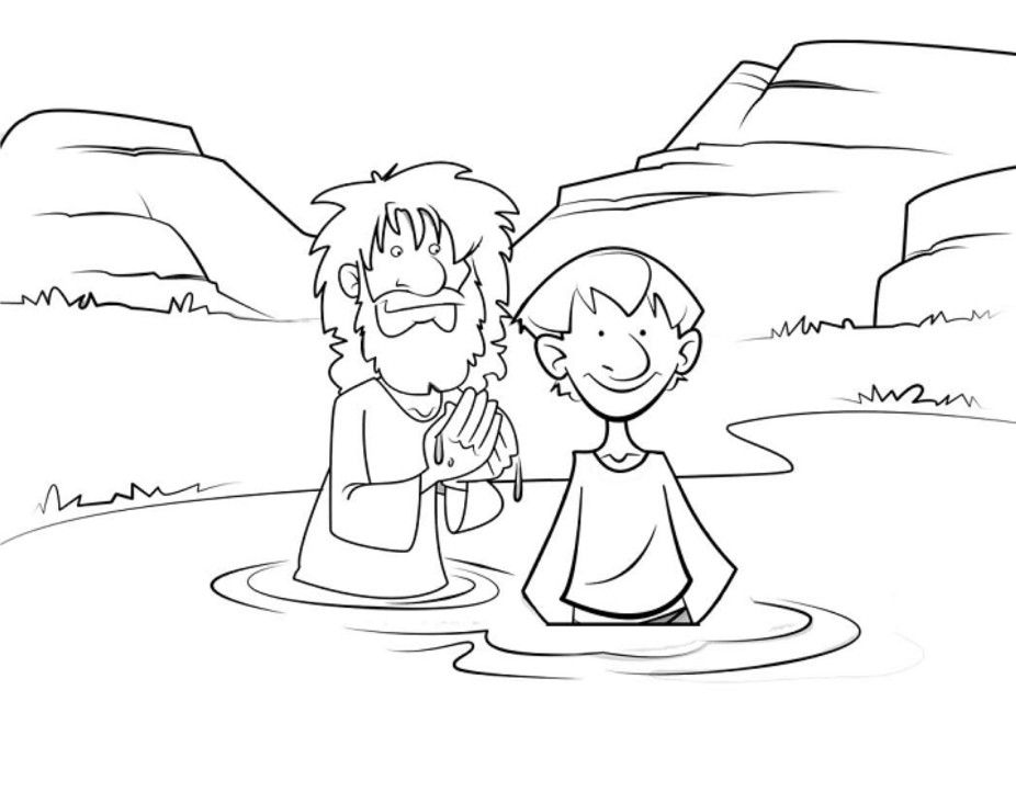 John The Baptist Coloring Pages For Kids