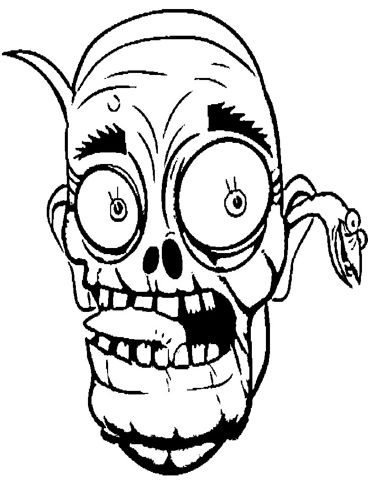 Scary zombie coloring pages az coloring pages for Zombie coloring pages