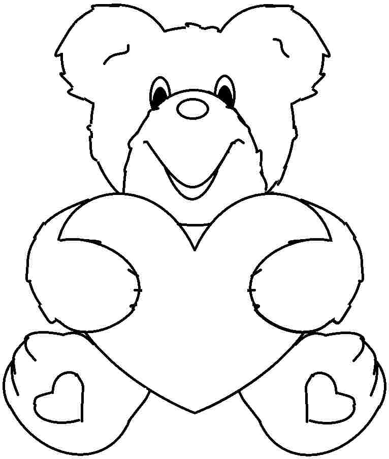 Valentine Color Pages For Kids AZ Coloring Pages