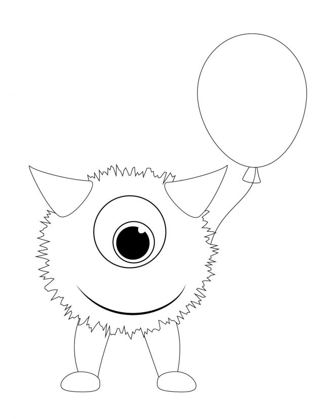 mosnter template - cute monster coloring pages coloring home