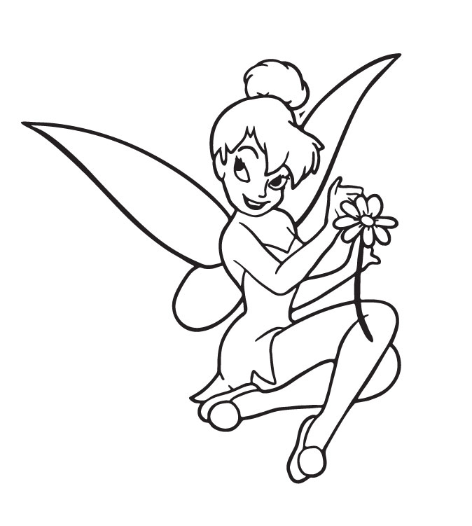 Tinkerbell christmas coloring pages