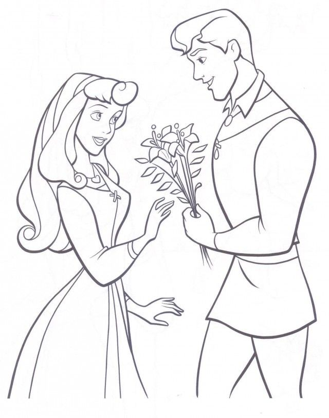 Free Disney Princess Ariel And Eric Coloring Pages