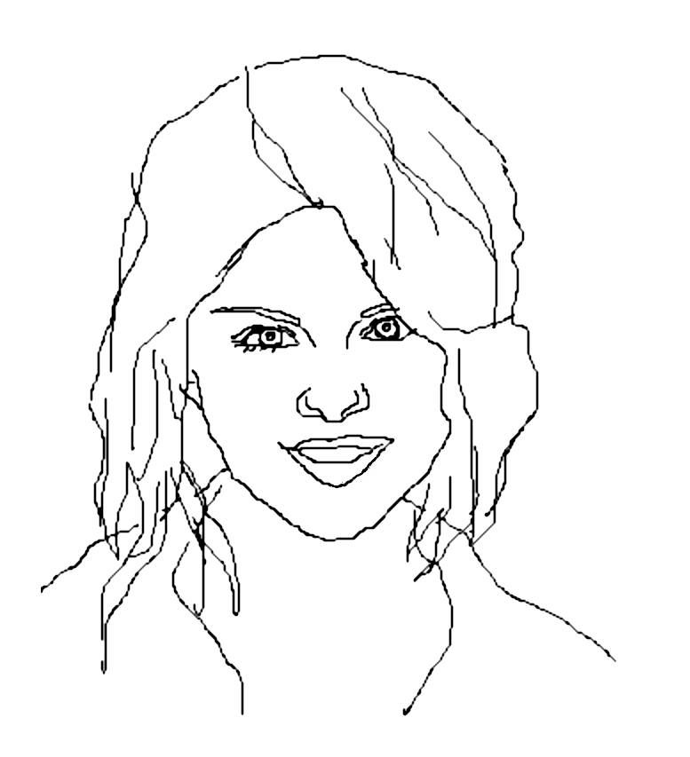 coloringpicbook: Selena Gomez ~ coloring pictures pages