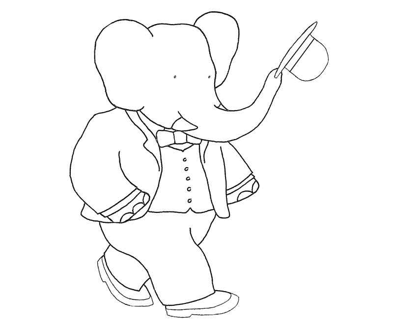 Babar Coloring Pages Az Coloring Pages Babar Coloring Pages
