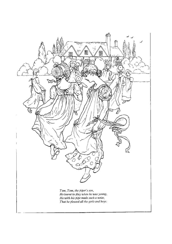 Coloring Pages For Nursery Rhymes : Preschool nursery rhymes coloring pages az