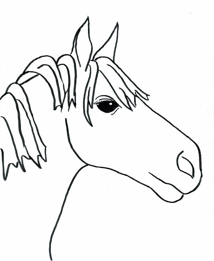 simple horse coloring pages - race horse coloring pages coloring home