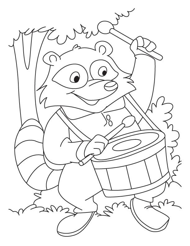raccoon coloring pages coloring pages