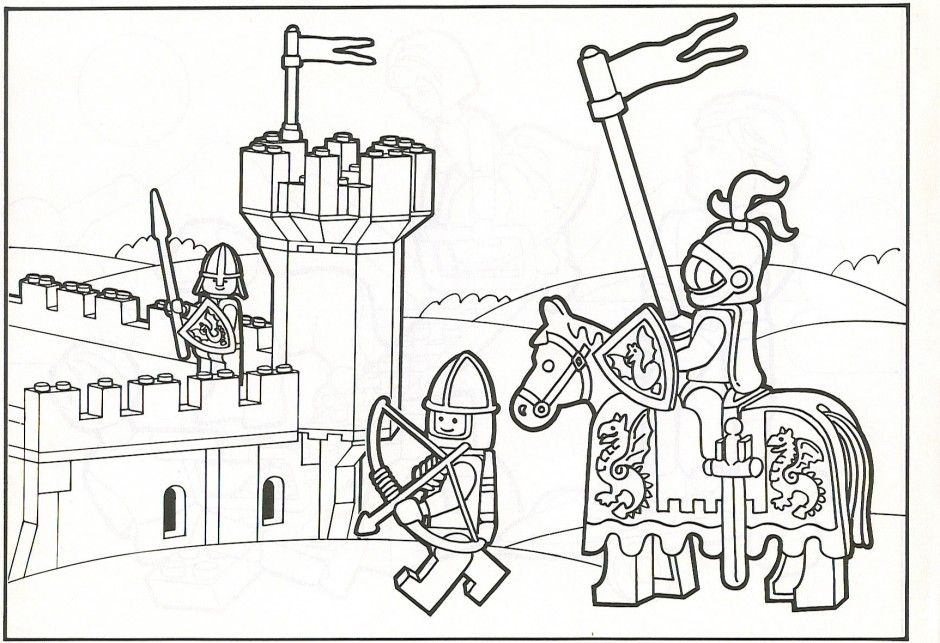 Lego City Coloring Pages Pirate Colouring Picture