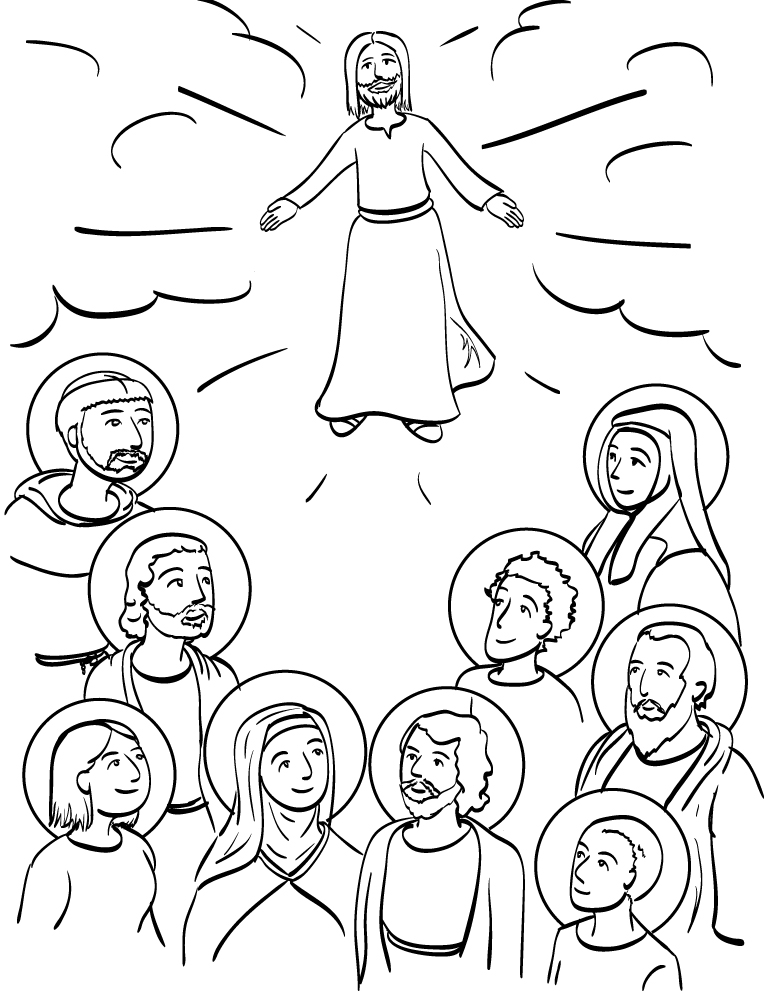 Printable Coloring Pages For All Saints Day : All Saints Day Coloring Pages AZ Coloring Pages