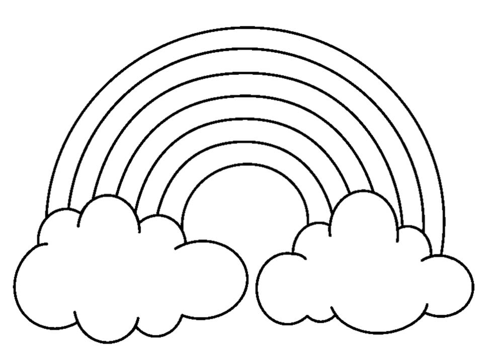 rainbow coloring pages for kid - photo#6