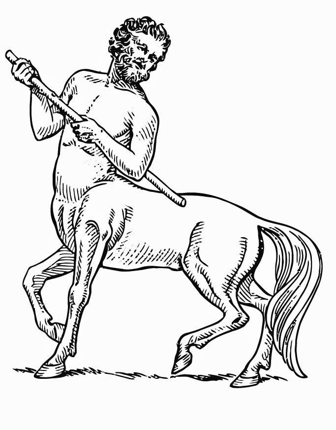 Centaur Coloring Pages