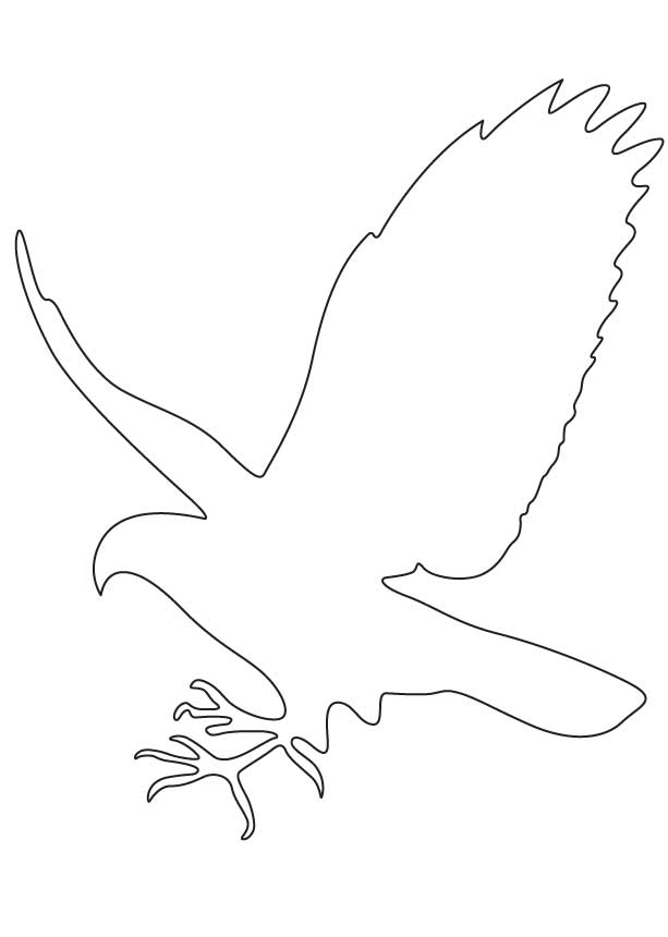 flying bird outline coloring pages