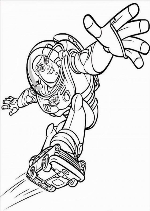 Buzz Lightyear Coloring Pages To Print Free Coloring Pages For