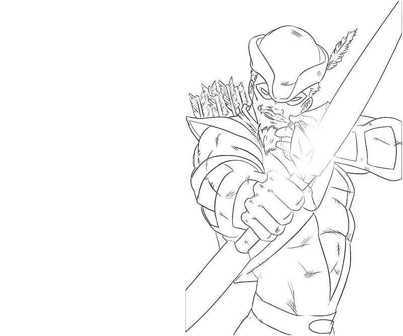 Green Arrow Coloring Pages - Coloring Home