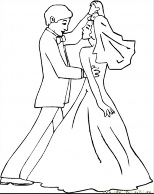 printable coloring page wedding dance entertainment dancing