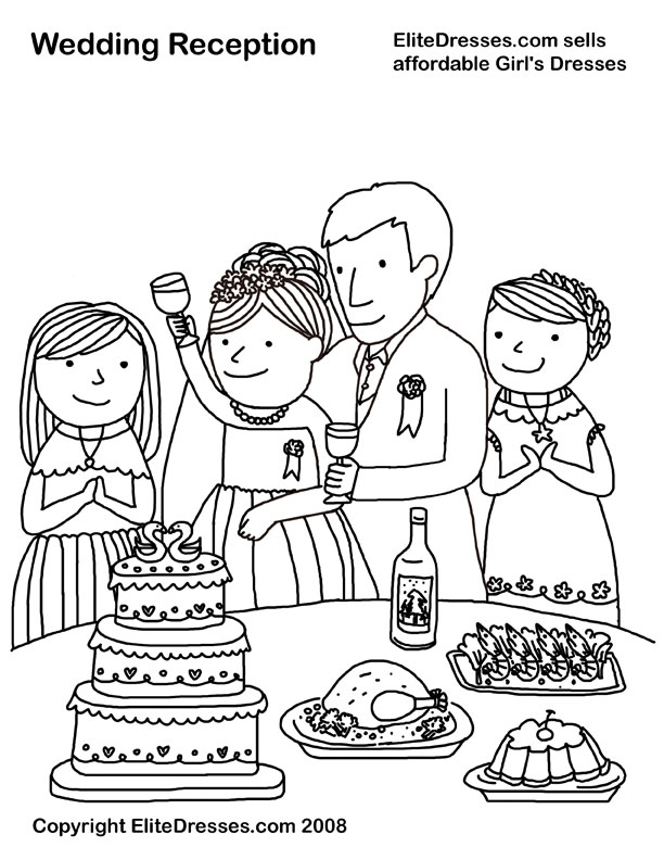 wedding coloring pages that are free and printable - Wedding Coloring Book