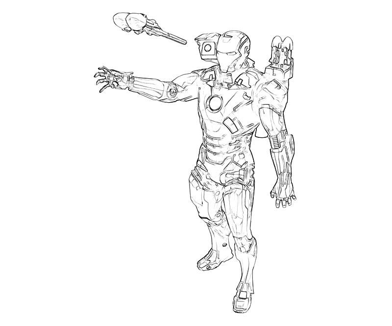 Iron Man 2 Coloring Pages 635