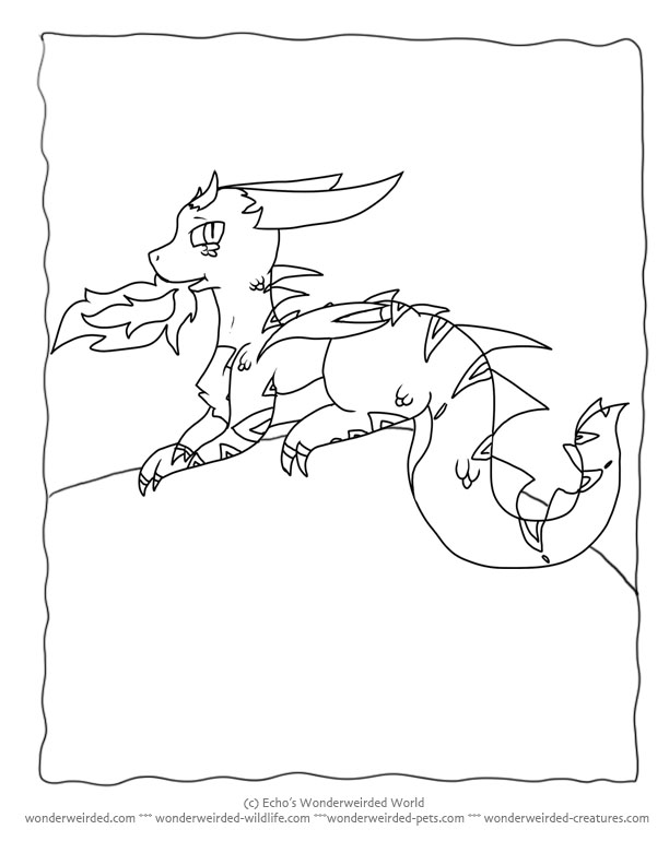 cartoon dragons coloring pages - photo#16
