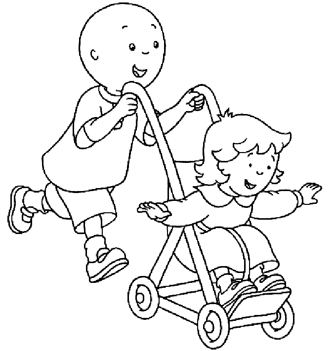 caillou coloring pages and book uniquecoloringpages