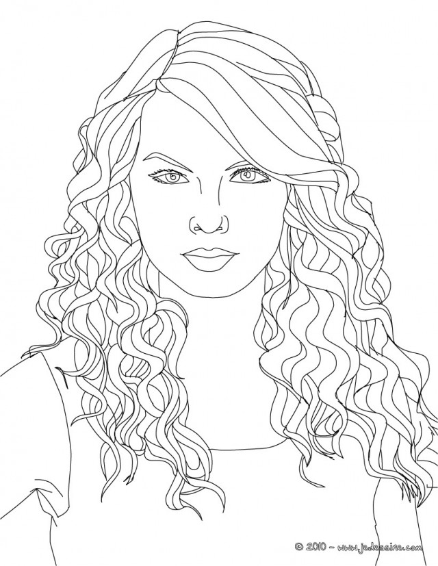 Taylor Swift Coloring Pages Kids