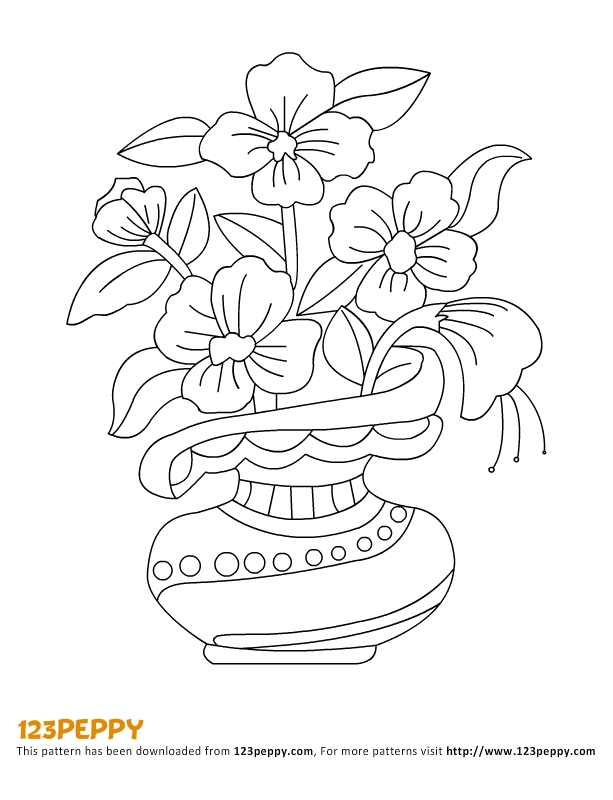 Flower Pattern For Kids Az Coloring Pages