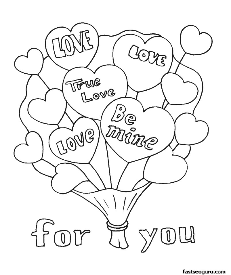 Valentines Day Coloring Pages Printable