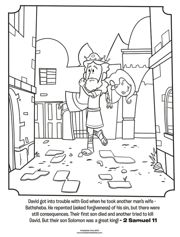 david the king coloring pages - photo#22