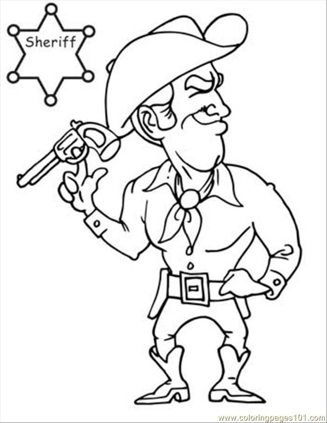 Coloring Pages Cowboy Coloring Book Page 07 (Entertainment