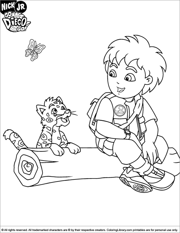 Go Diego Go Coloring Pages - Coloring Home