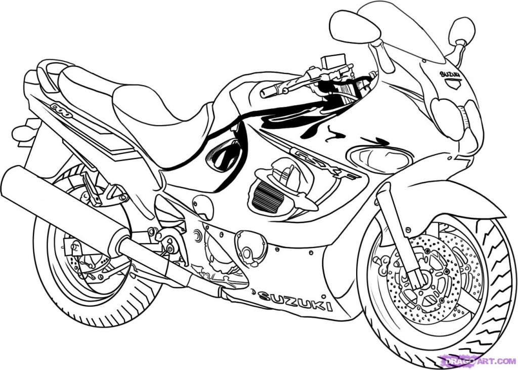 Free Motorcycle Coloring Pages AZ Coloring Pages