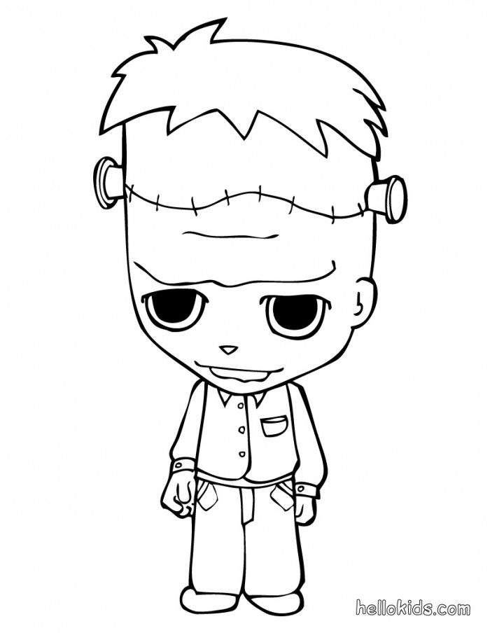 Frankenstein coloring page az coloring pages for Frankenstein coloring book pages