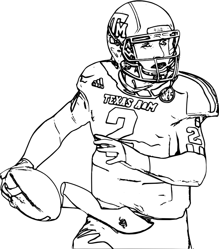 johnny football Archives | Printable Coloring Pages