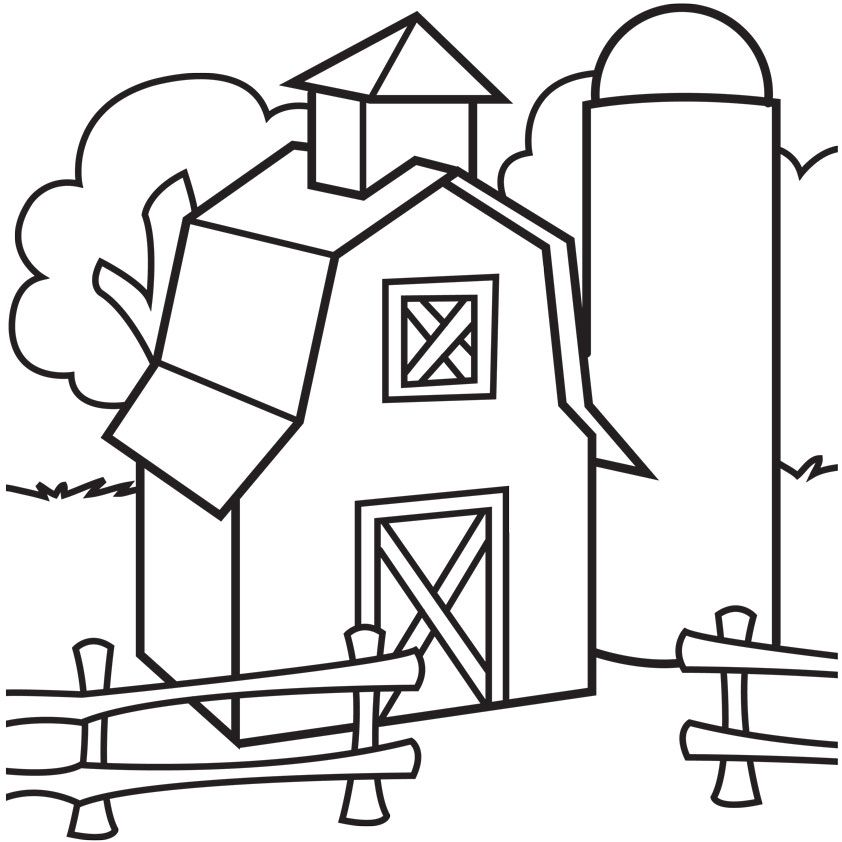barn coloring pages for kids - photo#3
