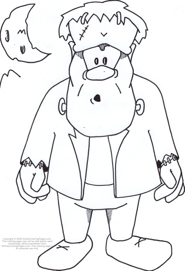 frankenstein coloring book pages - photo#6
