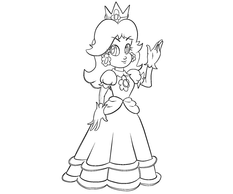 peach and daisy coloring pages - photo#18