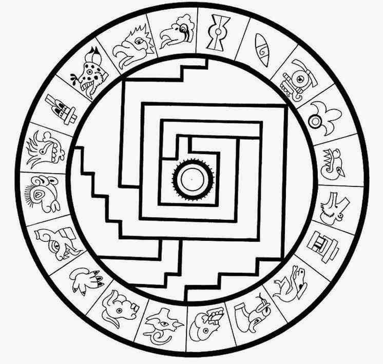 Aztec Coloring Pages Pdf : Indian aztec mandala coloring pages worksheet home
