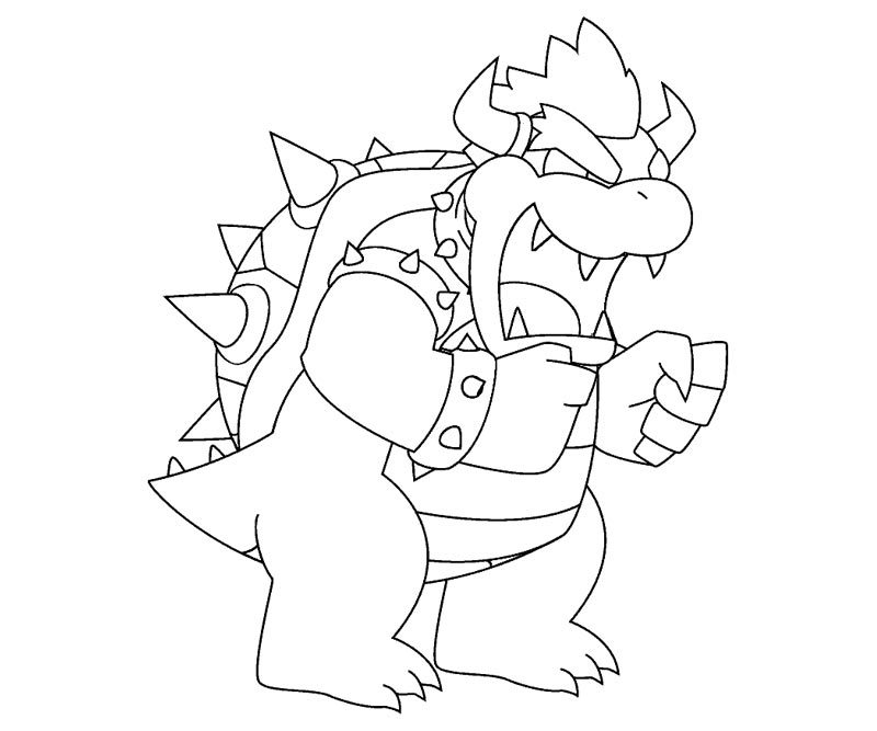 Bowser coloring page coloring home for Bowser jr coloring pages printable