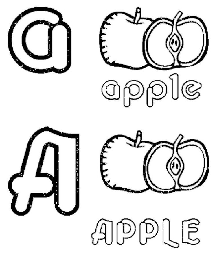 Apple Coloring Pages And Activities : Apple fruit picture az coloring pages