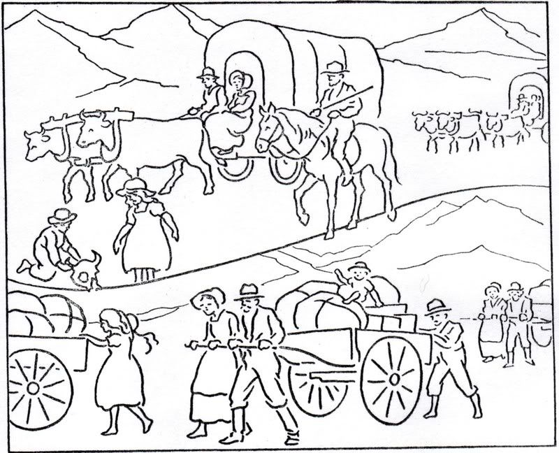 Pioneer Coloring Page Coloring Home