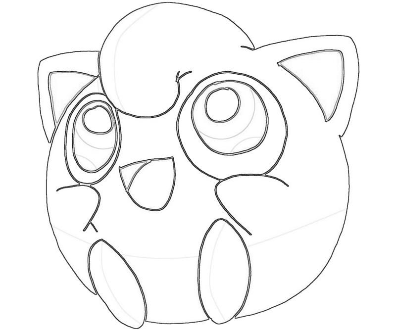 Jigglypuff singing jozztweet coloring home for Jigglypuff coloring page