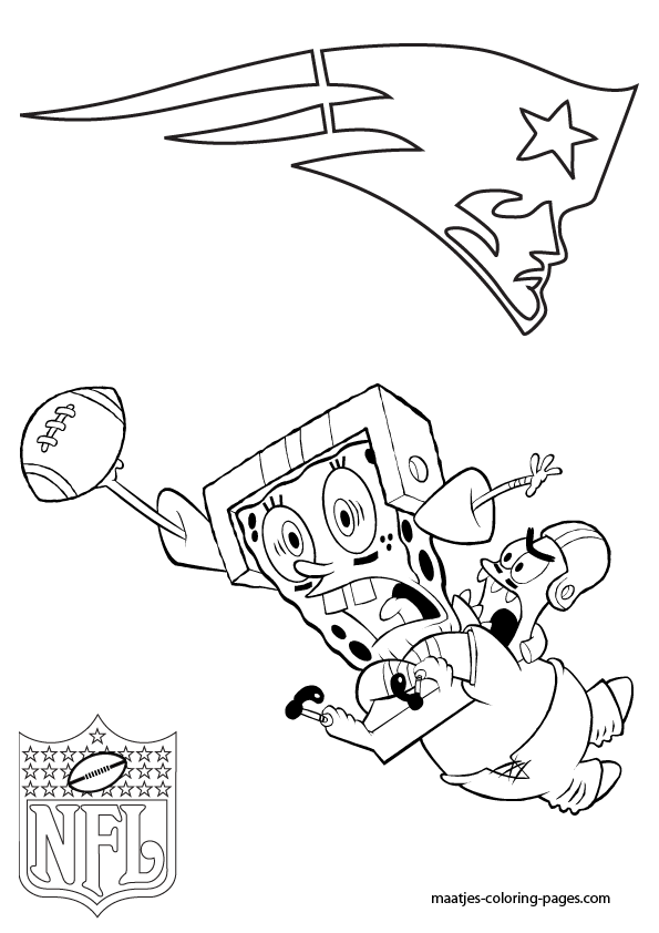 New England Patriots Coloring Page