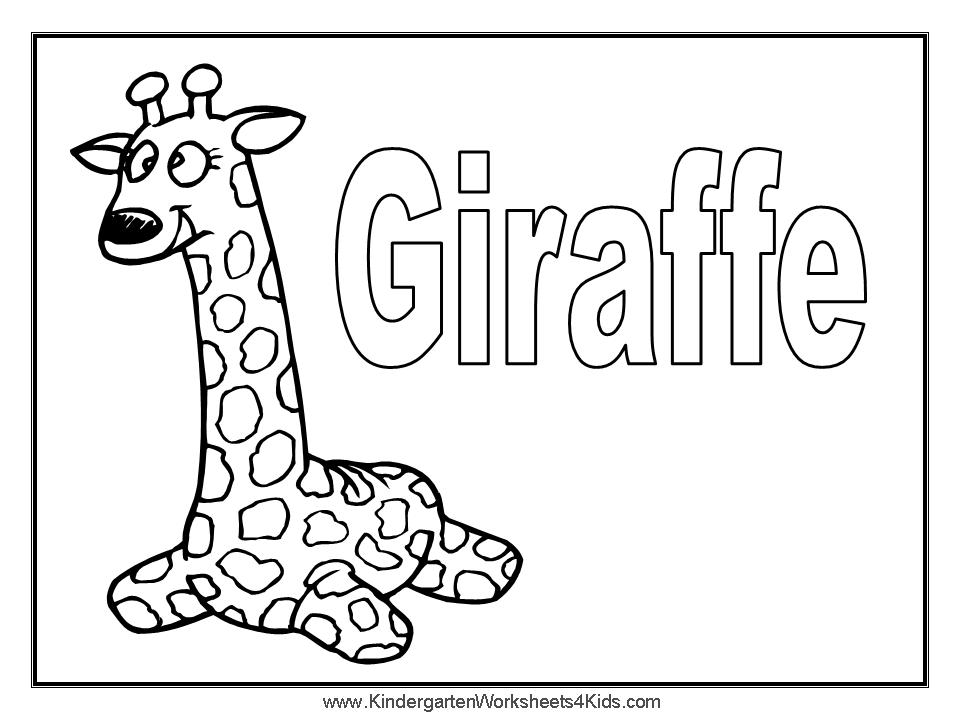 Giraffe Pictures For Kids Giraffe Coloring Page For Kids