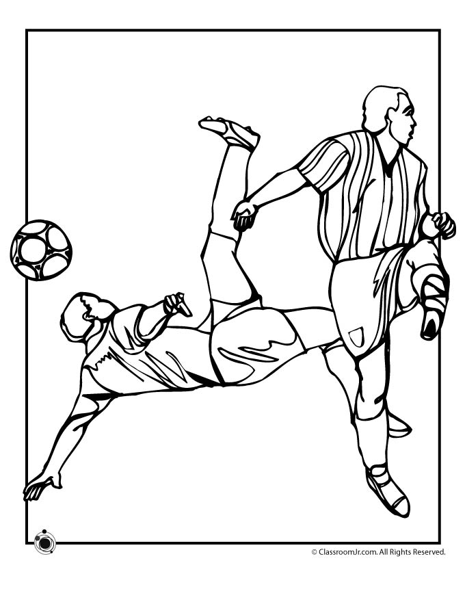 Free Coloring Pages Soccer Printable Soccer Coloring Pages For