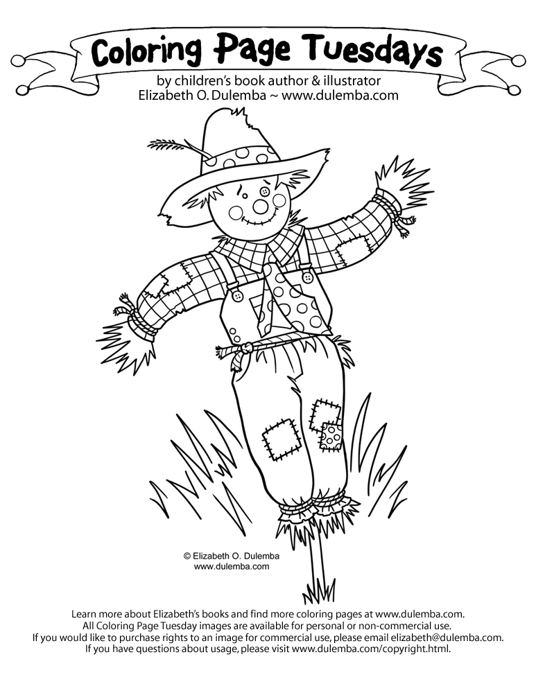 Scarecrow color page az coloring pages for Coloring pages scarecrow