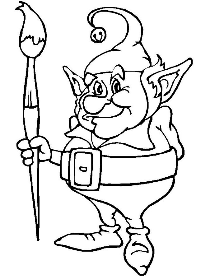Elf Coloring Pages Pdf : Girl elf coloring pages az