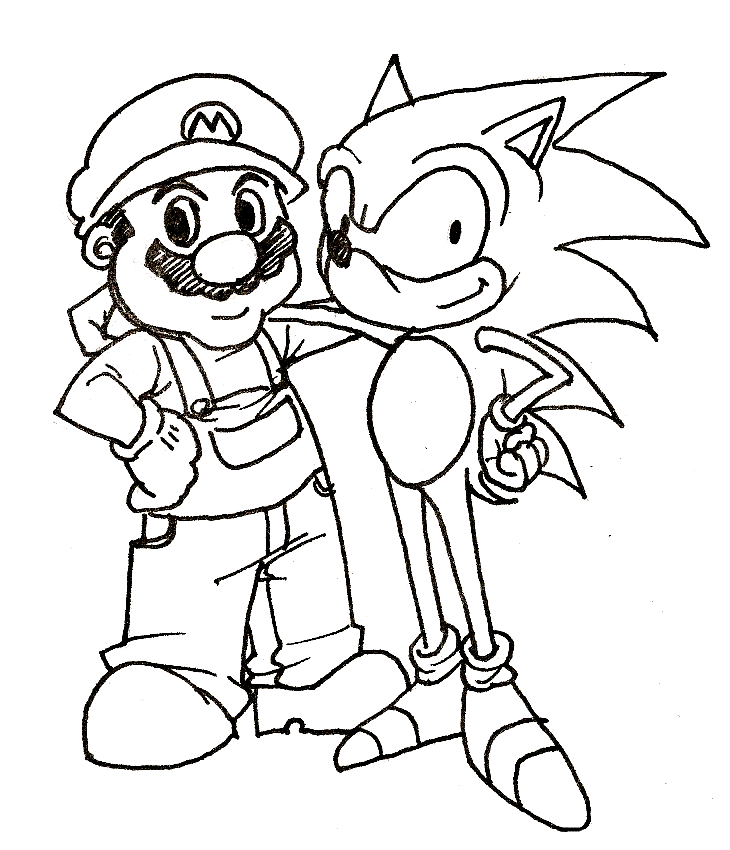 sonic christmas coloring pages - photo#34