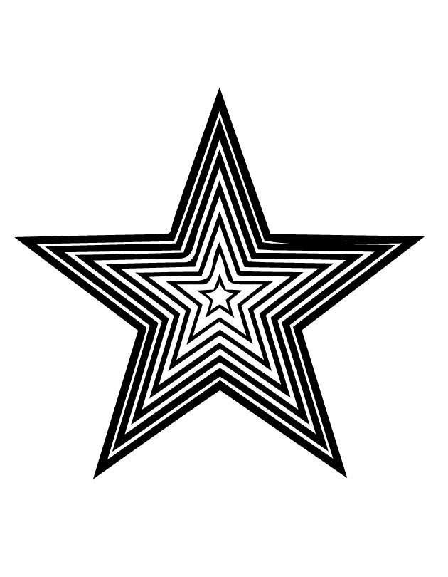 Star shape images az coloring pages for Star shape coloring page