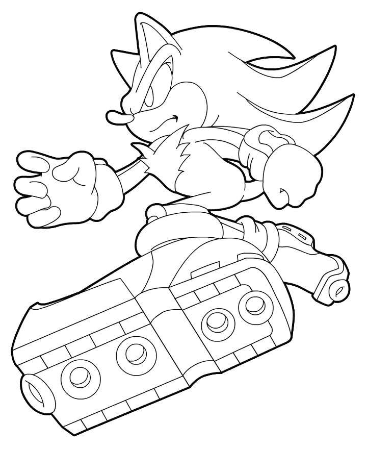 sonic the hedgehog shadow coloring pages image search results