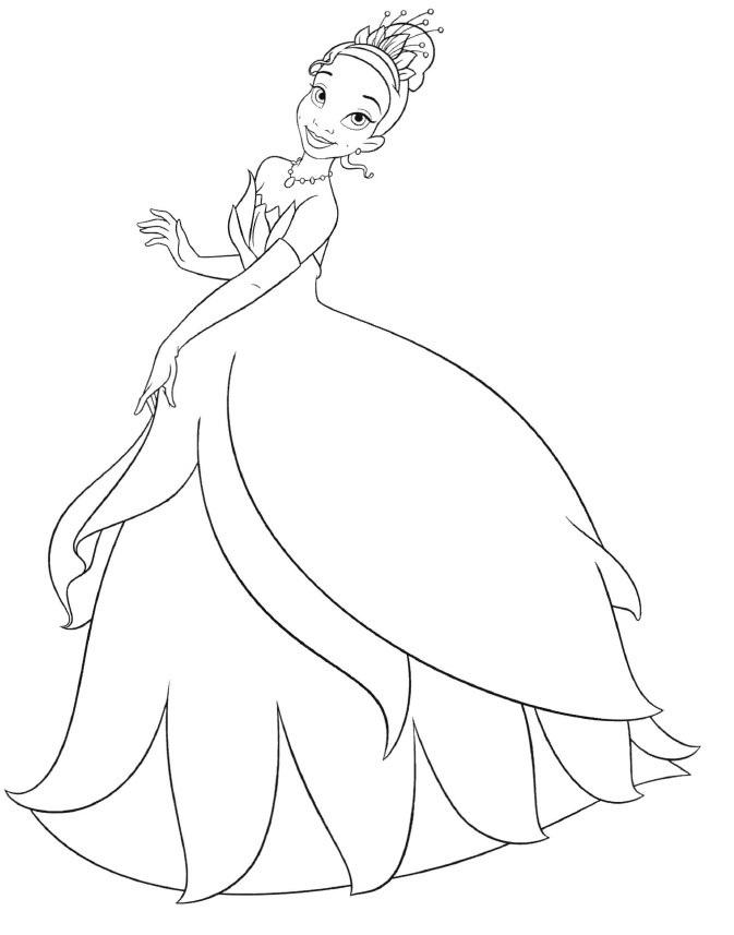 Princess And The Frog Coloring Pages To Print Coloring Home Princess And The Frog Colouring Pages